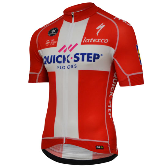 Maillot Quick Step Floors PRR 2018 - Champion Denmark